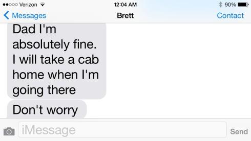 Brett cab text